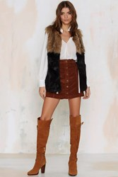 Nasty Gal Hazy Shade Of Winter Faux Fur Vest