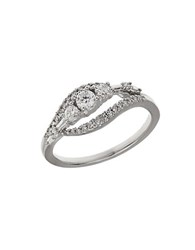 Lord And Taylor Diamond 14K White Gold Ring 0.5Tcw