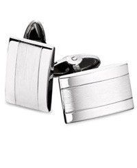 Macy's Men's Stainless Steel Dome Cuff Links