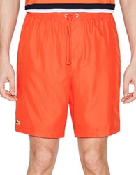 Lacoste Jersey Diamond Weave Shorts Red