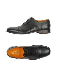 Daniele Alessandrini Grey Lace Up Shoes Military Green