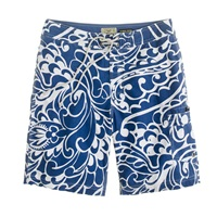 J.Crew 9' Board Shorts In Deep Water Floral