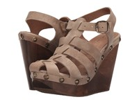 Cordani Duran Taupe Nubuck Women's Wedge Shoes