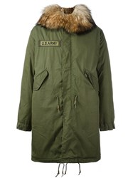 As65 'U.S. Army' Parka Coat Green