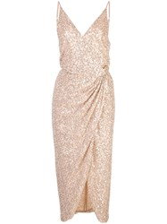 Jonathan Simkhai Sequin Wrap Dress Pink