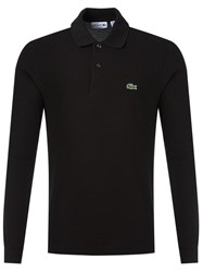 Lacoste Chest Logo Polo Shirt Black
