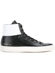 Common Projects Lace Up Hi Top Sneakers Black