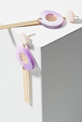 Anthropologie Moonbeam Drop Earrings Purple Motif