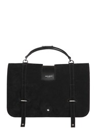 Saint Laurent Large Charlotte Messenger Suede Bag