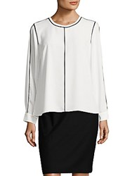 Vince Camuto Roundneck Long Sleeve Blouse New Ivory