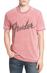 Lucky Brand Men's Fender Flame Graphic Burnout T Shirt
