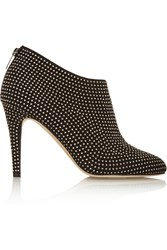 Jimmy Choo Mendez Studded Suede Ankle Boots Black