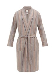 Paul Smith Signature Stripe Cotton Poplin Robe Multi