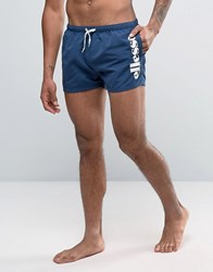Ellesse Block Side Logo Swim Shorts In Navy Navy