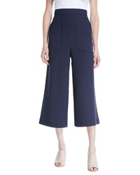 See By Chloe Cropped Wide Leg Pants Blue
