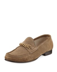 Tom Ford Suede Chain Link Loafer Tan