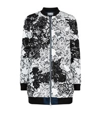 Self Portrait Long Lace Bomber Jacket Female Multi