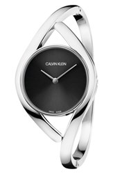 Calvin Klein Party Bangle Watch 28Mm Silver Black Silver