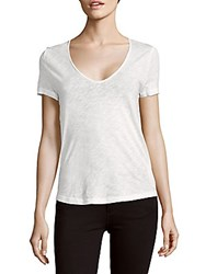 Zadig And Voltaire Tino Painted Back Cotton Top Blanc