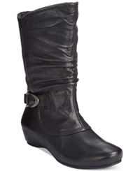 Bare Traps Shelby Hidden Wedge Mid Shaft Boots Women's Shoes Black