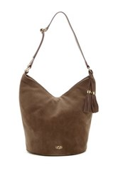 Ugg Rae Suede And Leather Hobo Brown