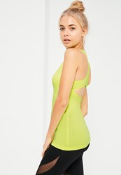 Missguided Active Green Sports Vest Lime