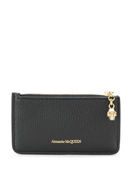 Alexander Mcqueen Leather Card Holder Black