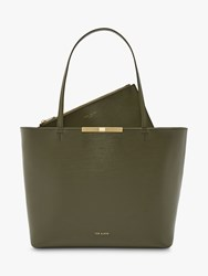 Ted Baker Jackki Mini Shopper Bag Khaki