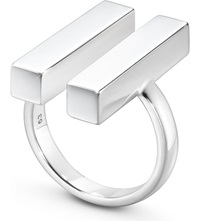 Georg Jensen Aria Sterling Silver Two Bar Ring