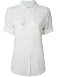 Equipment Rolled Sleeves Shirt White
