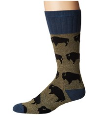 Socksmith Bison Green Men's Crew Cut Socks Shoes