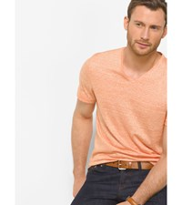 Linen And Cotton V Neck T Shirt