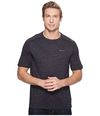 Marmot Ridgeline Short Sleeve Slate Grey Heather Men's T Shirt Black