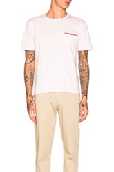 Thom Browne Jersey Cotton Short Sleeve Pocket Tee In Pink