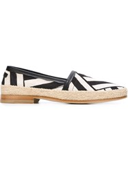 Dolce And Gabbana Striped Espadrilles Black