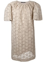 Maurizio Pecoraro Embroidered Dress Nude Neutrals