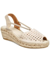 Andre Assous Corrine Wedge Sandals Women's Shoes Taupe