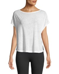 Beyond Yoga Perfect Layer Jersey Tee White