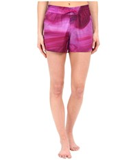 The North Face Printed Class V Shorts Fuchsia Pink Water Swirl Print Women's Shorts