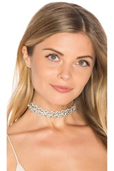 Child Of Wild Victoria Rhinestone Choker Metallic Silver