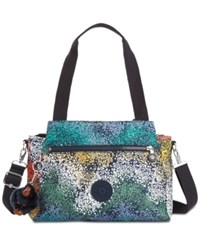 Kipling Elysia Print Satchel Watercolor River