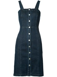 Ag Jeans Denim Button Down Dress Women Cotton Polyurethane S Blue