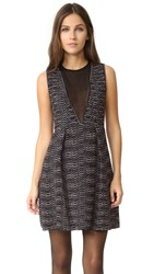 M Missoni V Neck Dress With Sheer Panel Petal