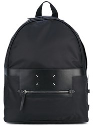 Maison Martin Margiela Classic Backpack Men Leather Nylon One Size Black