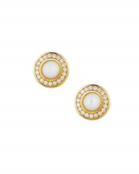 Ippolita 18K Lollipop Mini Mother Of Pearl And Diamond Stud Earrings White