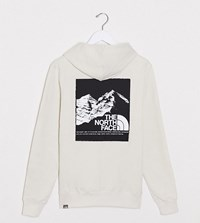 The North Face Back Graphic Hoodie In Cream Exclusive At Asos