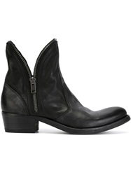 Pantanetti Zipped Trim Ankle Boots Black