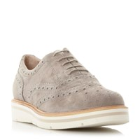 Dune Feathers Lace Up Brogues Grey
