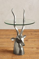 Anthropologie Ibex Side Table Silver