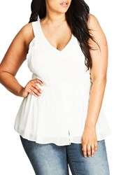 City Chic Plus Size Women's Sweet Willow Top Ivory
